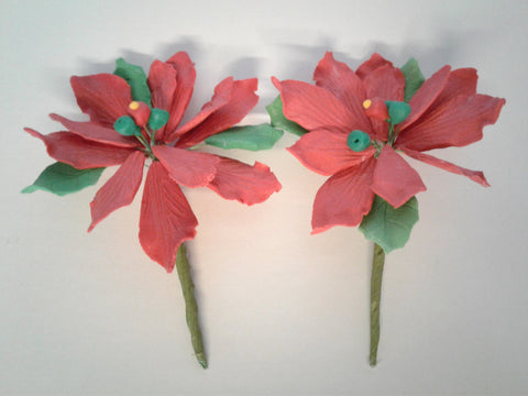 Poinsettia Edible Flower Small 2 Count