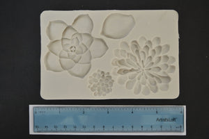 Extra Large Cactus Flowers Silicone Mold