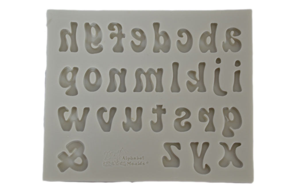 Groovy Lower Case Letter Silicone Mold