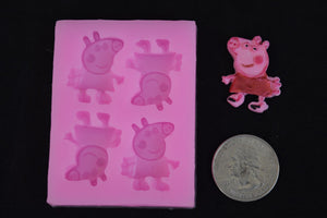 Peppa Pig Small Silicone Mold