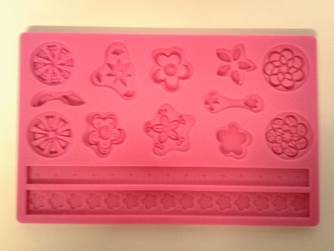 Flower Assortment Large Silicone Mold