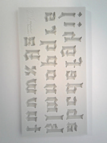 Gothic Lower Case Alphabet Silicone Mold