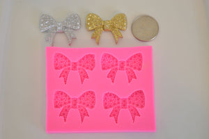 Bling Bow 4 Cavity Silicone Mold