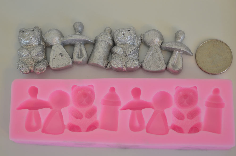 Baby Shower Mix Silicone Mold