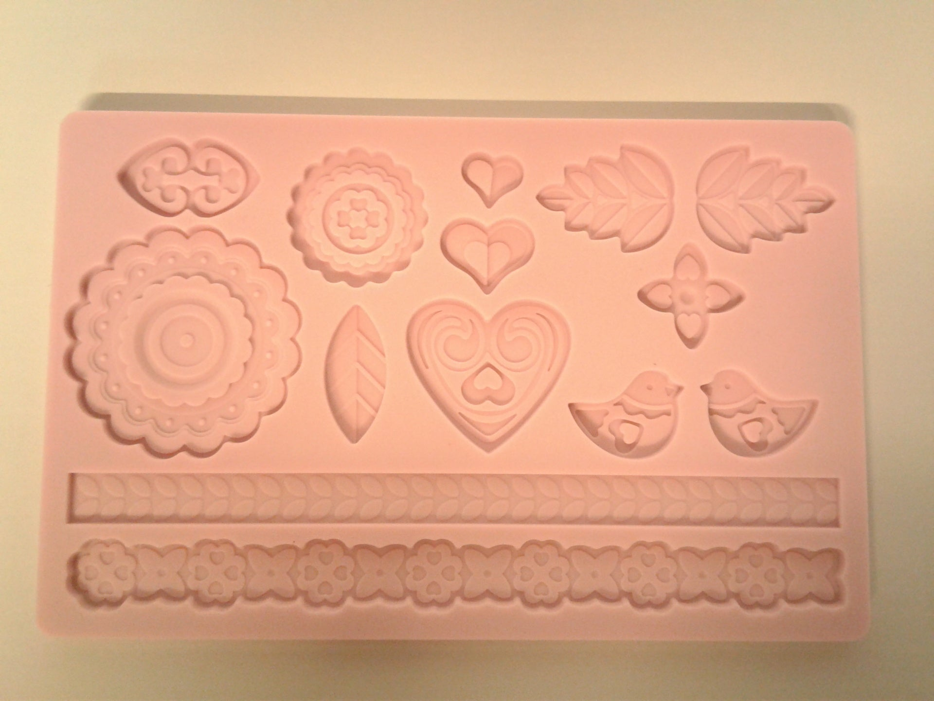 Bird, Petal, Heart Large Silicone Mold