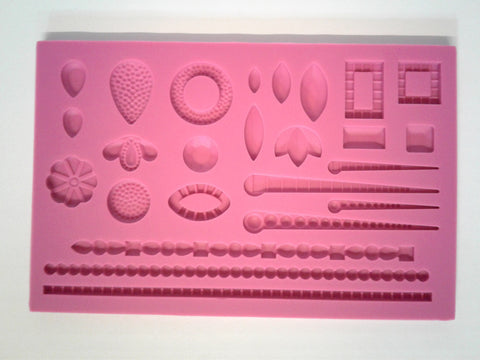 Diamonds & Pearl Mix Silicone Mold