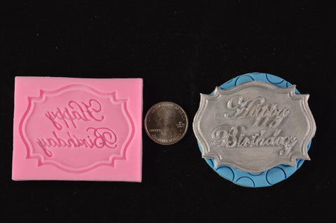 Happy Birthday Plaque Silicone Mold