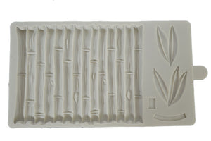 Bamboo Stalk and Leaves Silicone Mold