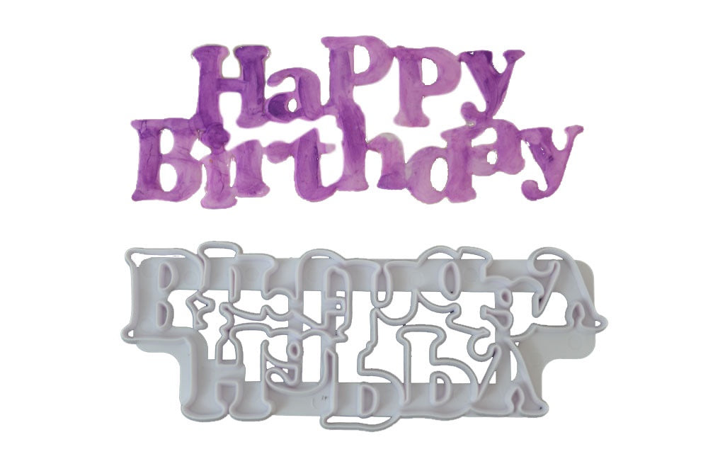 Happy Birthday Plaque Cutter