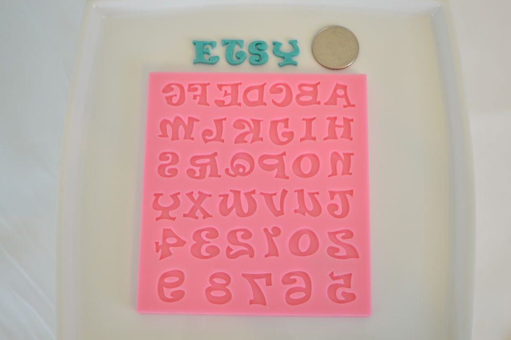 Alphabet and Number Silicone Mold