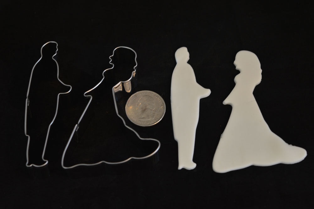 Bride and Groom Silhouette Cookie Cutter