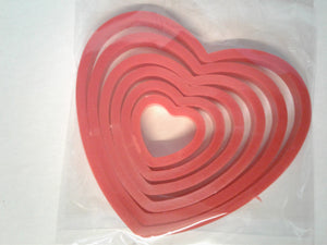 Heart Cookie Cutter Set 6 Piece
