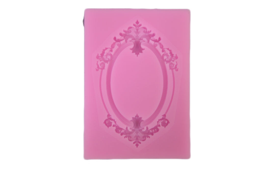 Filigree Accents Picture Frame Silicone Mold