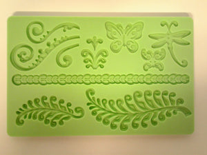 Fern and Butterfly Large Silicone Mold