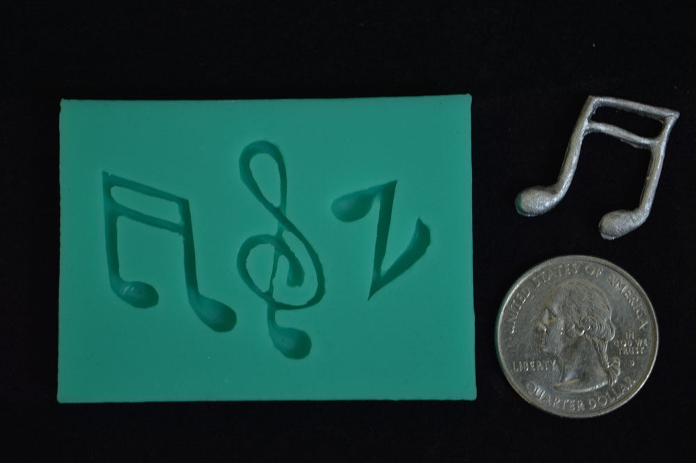 Musical Note Mix Silicone Mold