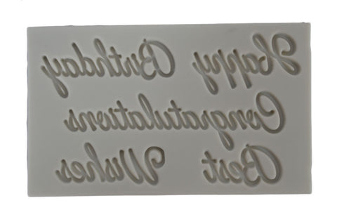 Celebration Quotes Mix Silicone Mold