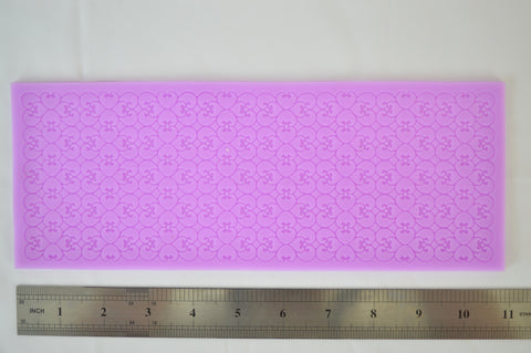 Heart Pattern Silicone Lace Mat