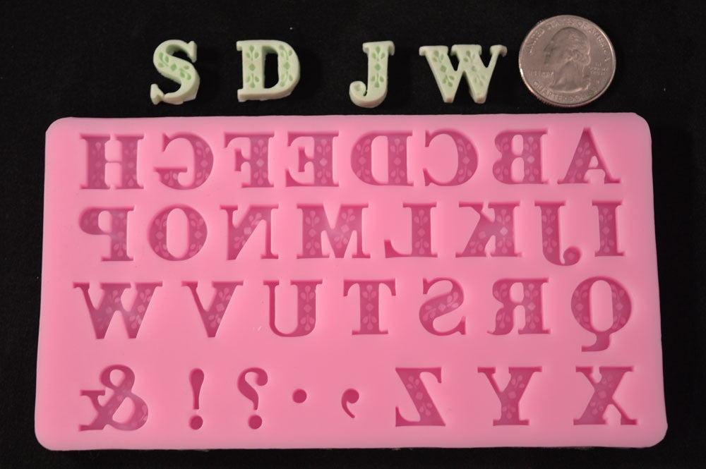 Small Accent Alphabet Silicone Mold