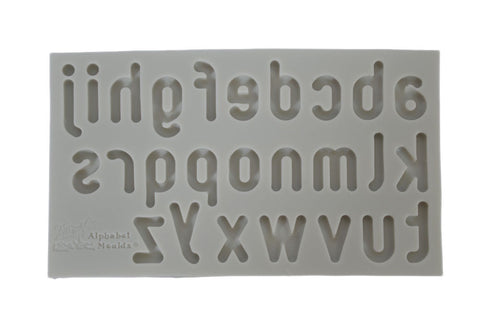 Smooth Rounded Lower Case Alphabet Silicone Mold