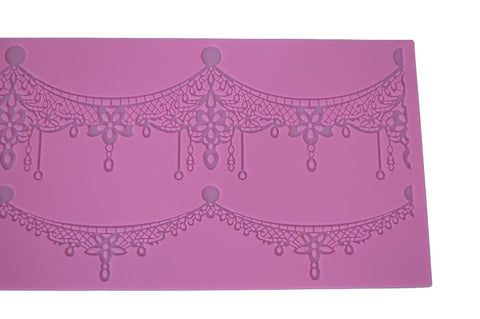Crown Necklace Silicone Lace Mat