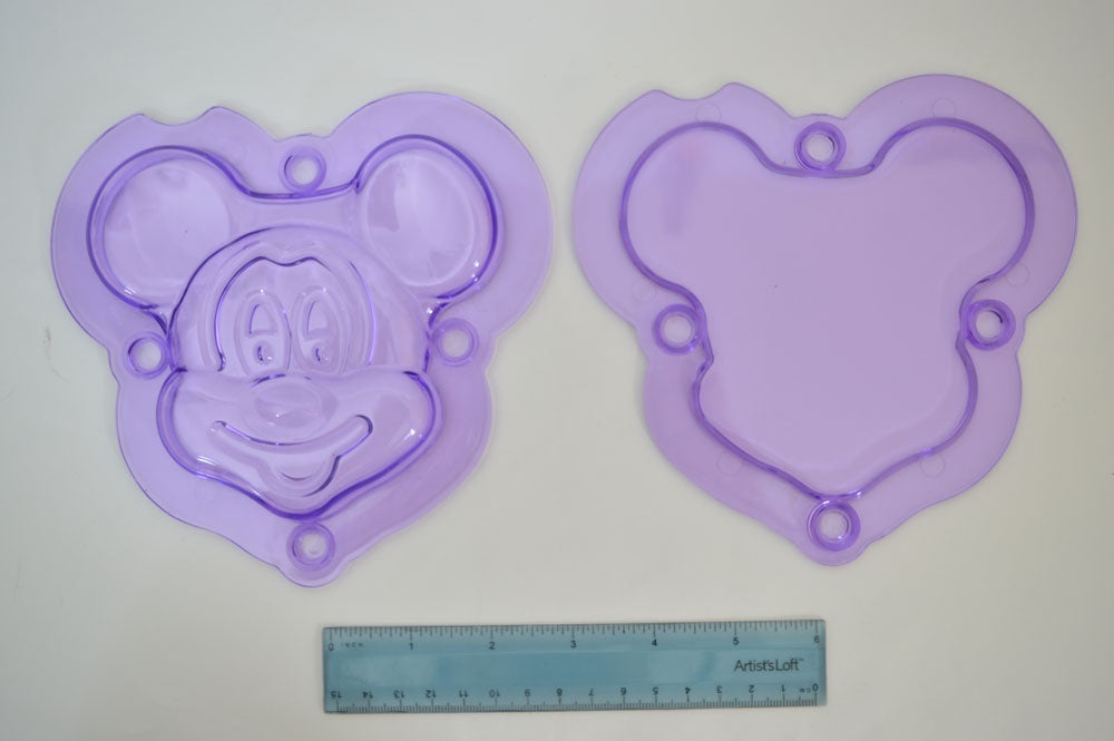 3D Mickey Plastic Chocolate Mold