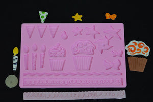 Birthday Mix Large Silicone Mold