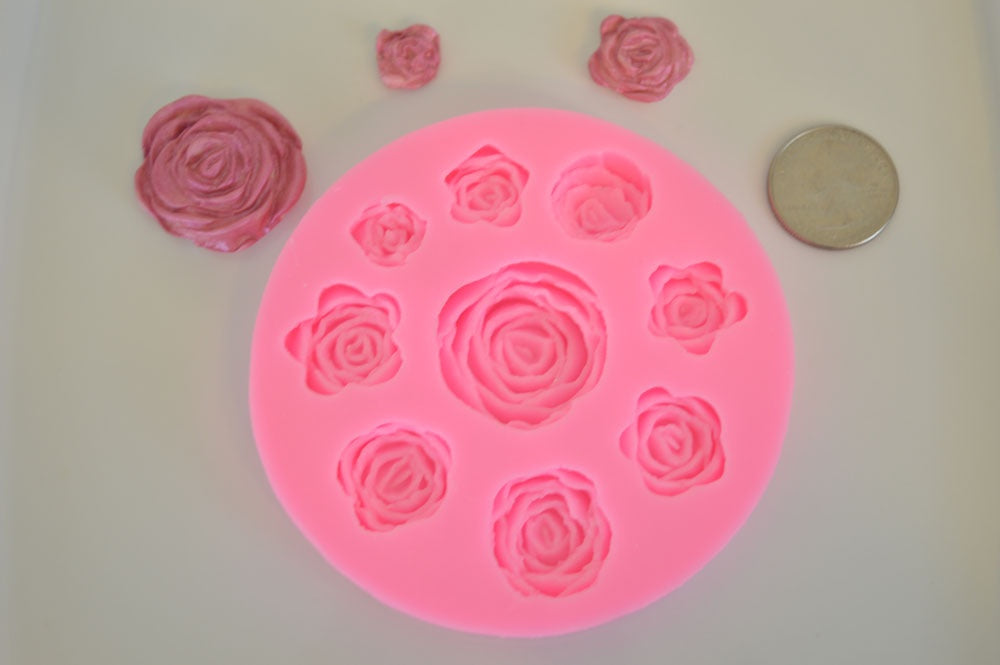 Roses 9 Cavity Silicone Mold
