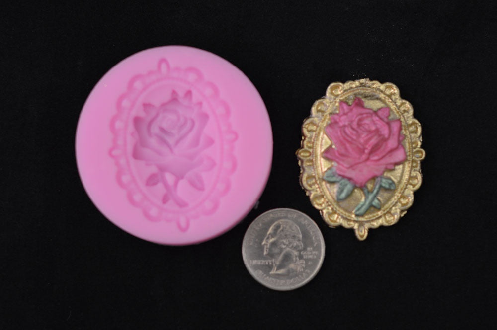 Rose Brooch Silicone Mold