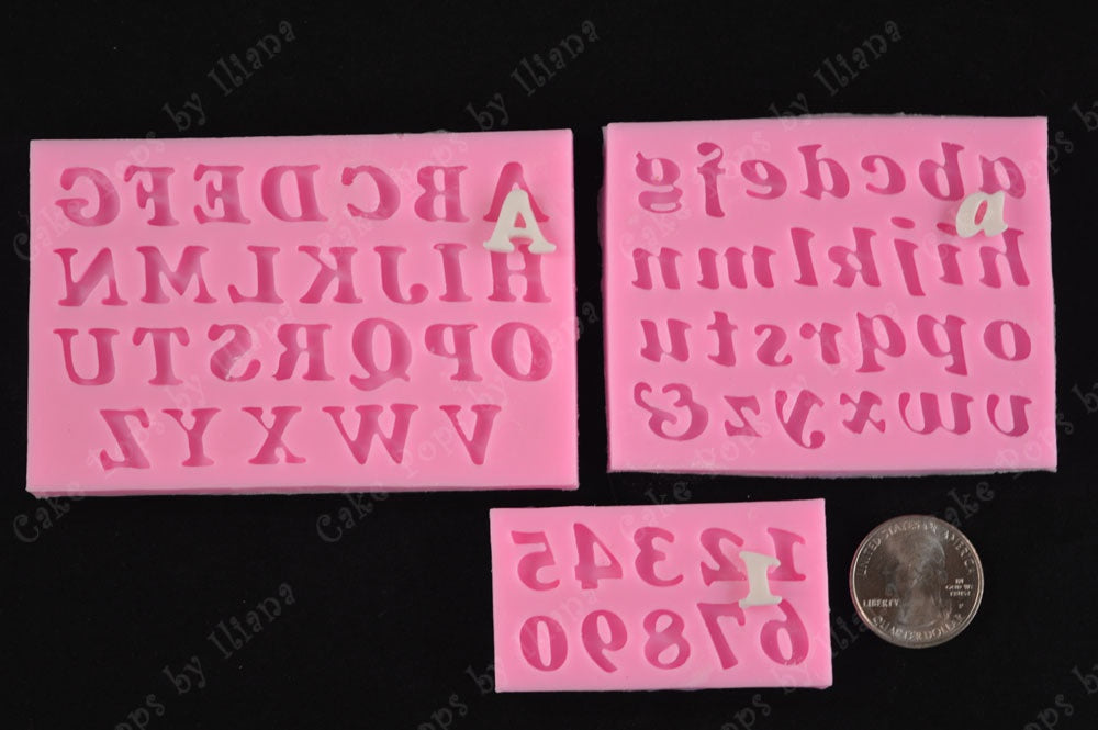 Upper / Lower case / Numbers Silicone Mold Set