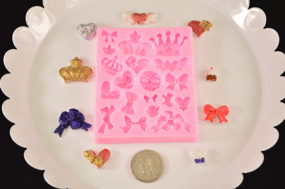 Crown & Bow Mix Silicone Mold