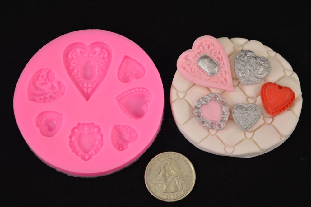 Hearts Mix Silicone Mold