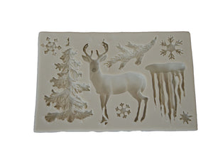 Winter Deer Mix Silicone Mold