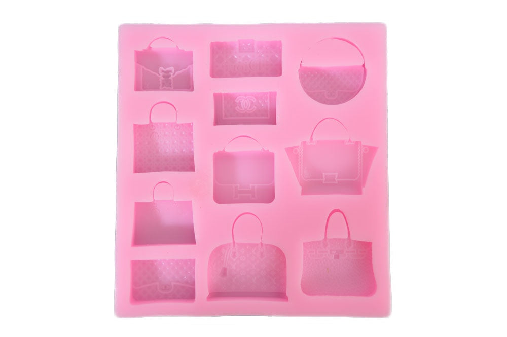 Designer Purse Mix 11 Styles Silicone Mold