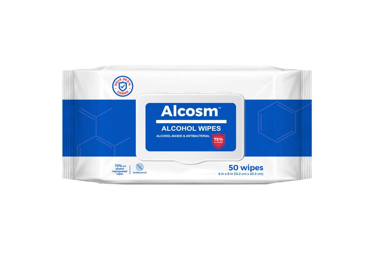 75% Alcohol Wipes - 3 x 50 Sheets Pack