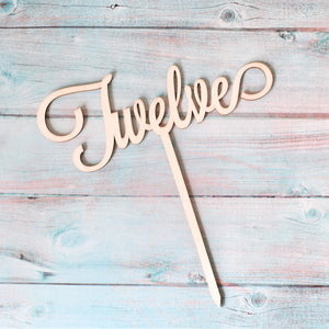 Clever Crumb Cake Topper, Wood, Happy Birthday Cake Topper, Eco Cake Toppers