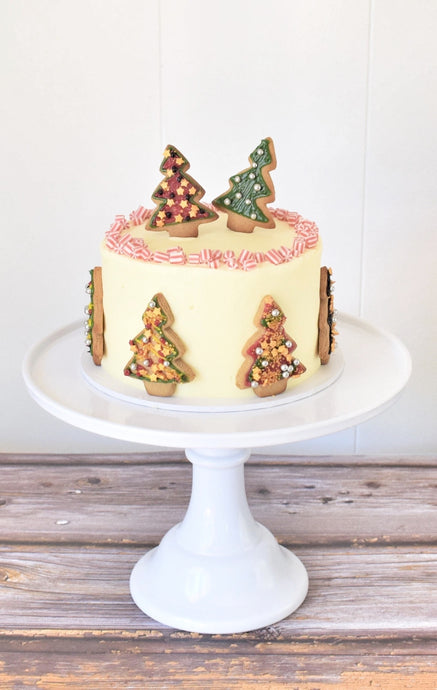 Clever Crumb Christmas Tree Cookie DIY Cake kit, Christmas Cake, Gingerbread Christmas Trees, Decorated Cookies, Sprinkles, Confectionery