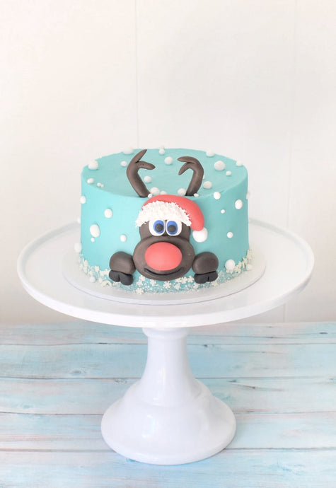 Clever Crumb Rudolph DIY Cake Kit, Christmas Cake, Rudolph the red nosed reindeer cake