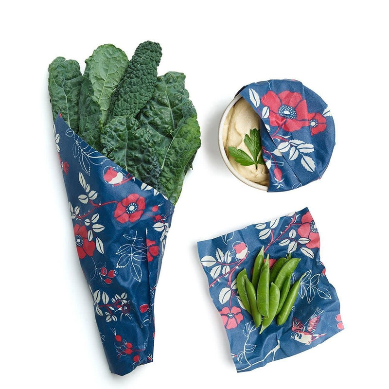 Bee's wrap 3-pack - Botanical Blue