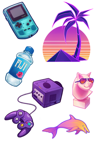 Vaporwave Stickersheet