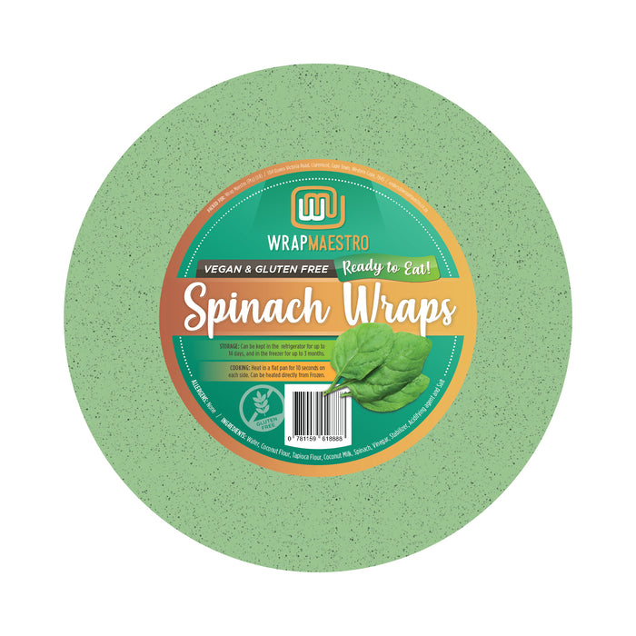 Spinach Wraps - 4 Pack