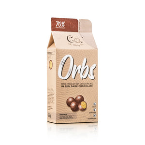 The Cheeky Co. Orbs Dry-Roasted Chickpeas in 70% Dark Chocolate