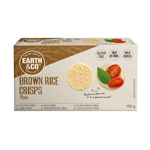 Earth & Co Brown Rice Crisps - Plain 100g