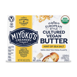 Miyokos European Style Cultured Vegan Butter 227g