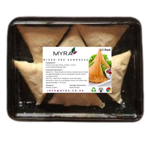 Myra Mixed Vegetable Samoosas 12 Pack
