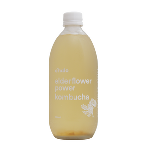 o'halo elderflower power kombucha 500ml