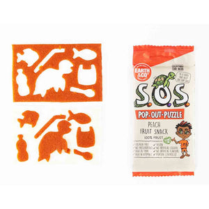 Earth & Co S.O.S Pop Out Puzzle Peach Flavour Fruit Snack