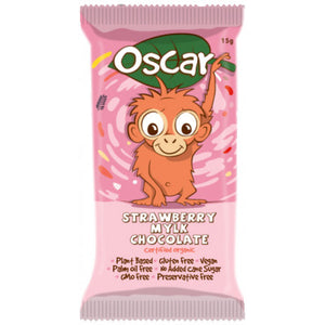 The Chocolate Yogi Oscar Strawberry Chocolate 15g