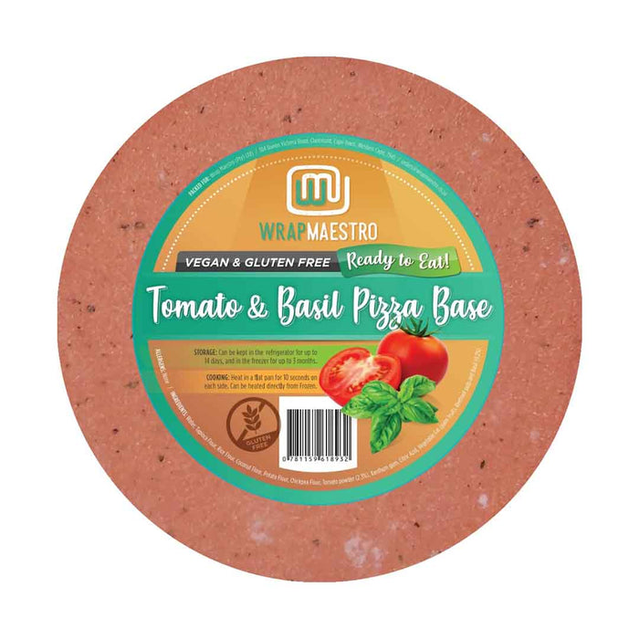 Tomato & Basil Pizza Bases - Pack of 2