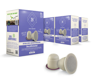 Compostable coffee capsules, Nespresso Compatible