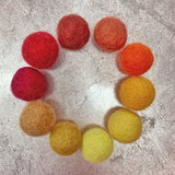 Fire ELEMENTS felt ball set